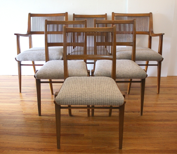 Admirable Mid Century Modern Dining Chair Set By Drexel Picked Vintage Dailytribune Chair Design For Home Dailytribuneorg