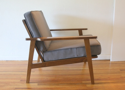 mcm elephant gray velvet arm lounge chair 4