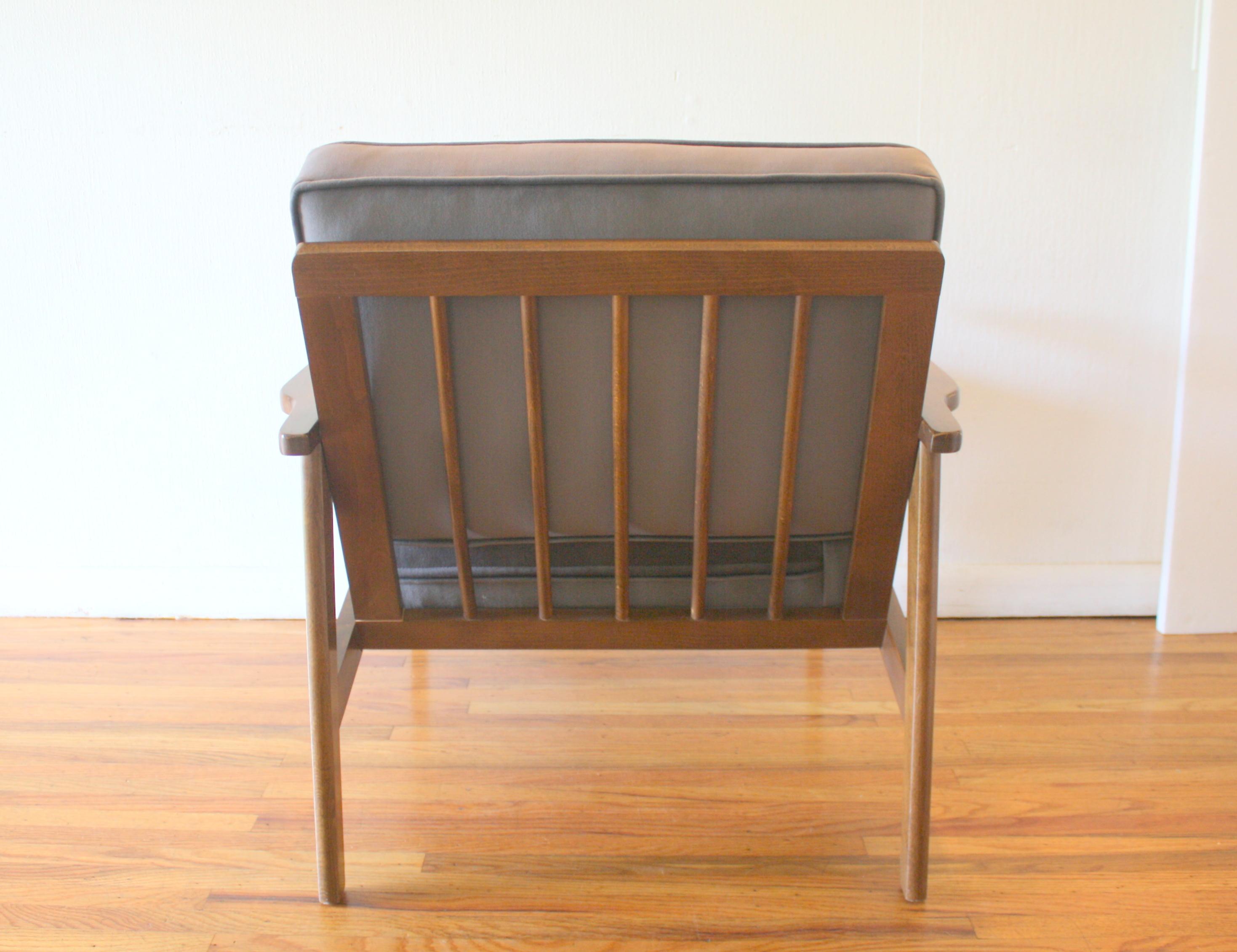 mcm elephant gray velvet arm lounge chair 5