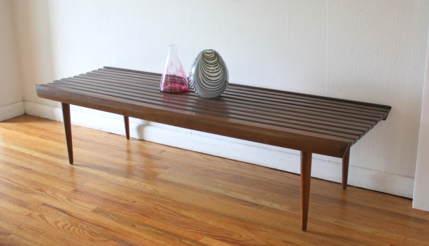 mcm long slatted bench 1