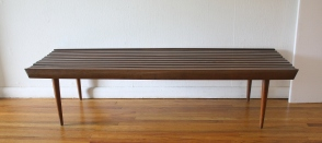 mcm long slatted bench 3