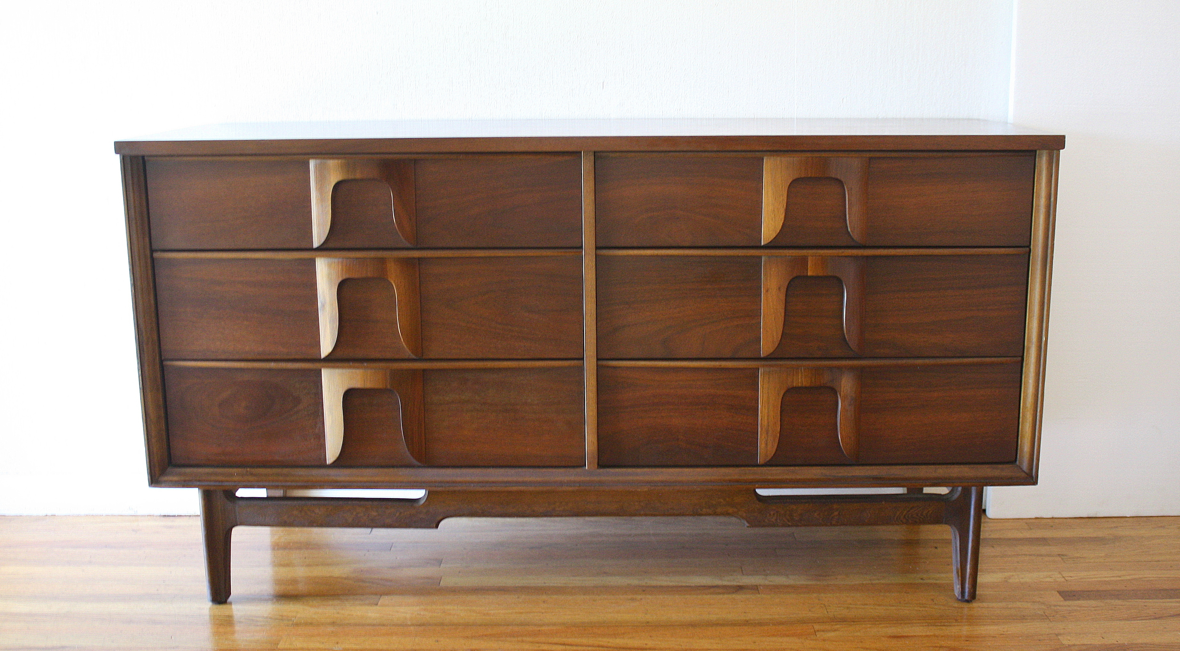 mcm low dresser credenza with sculpted wood handles 1.JPG