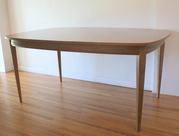 mcm surfboard dining table with sculpted detail 2