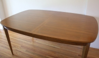 mcm surfboard dining table with sculpted detail 3