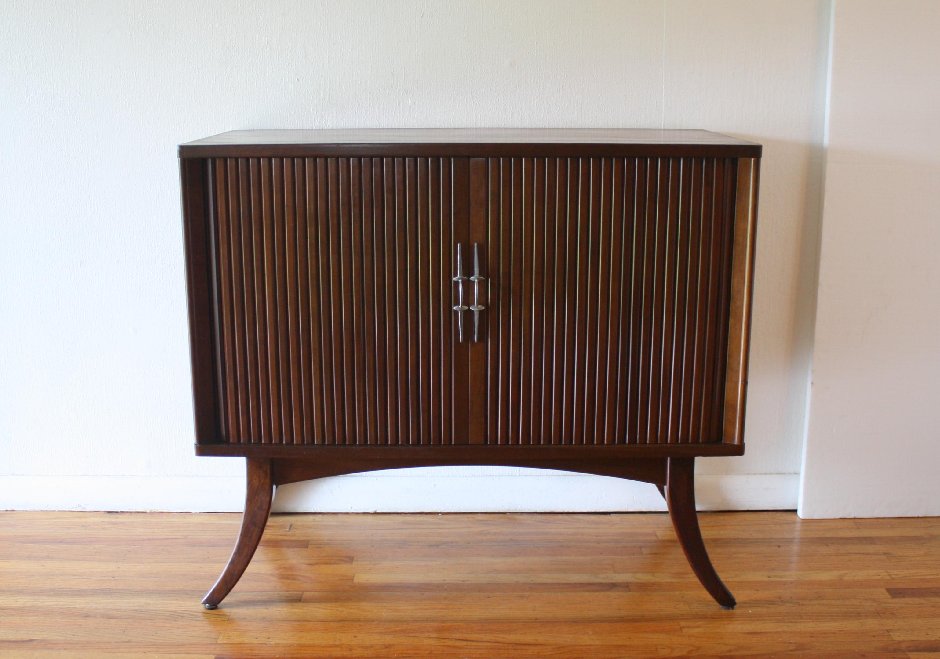 tambour door record cabinet 1