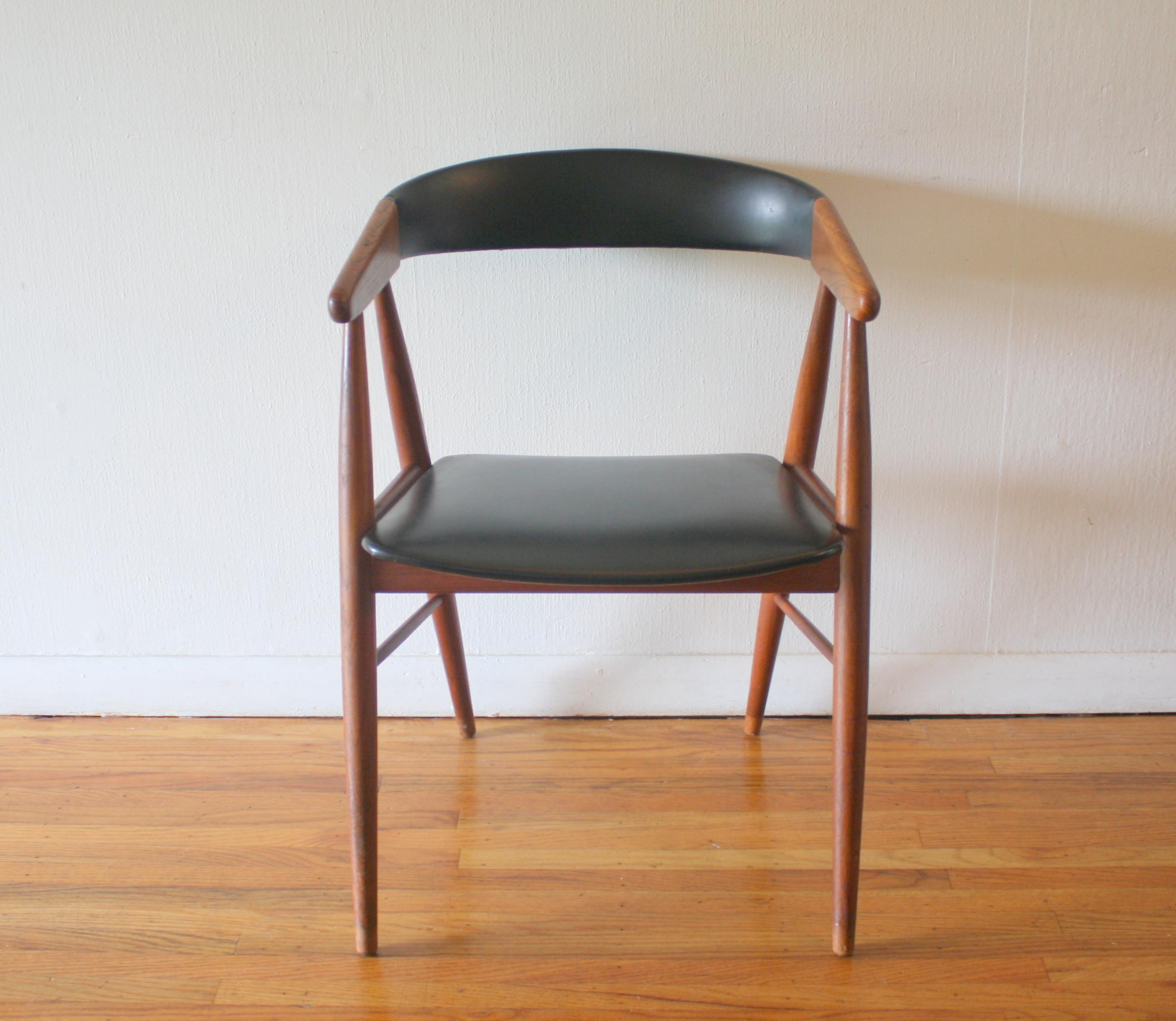 Mid Century Modern Danish Teak Chair Picked Vintage