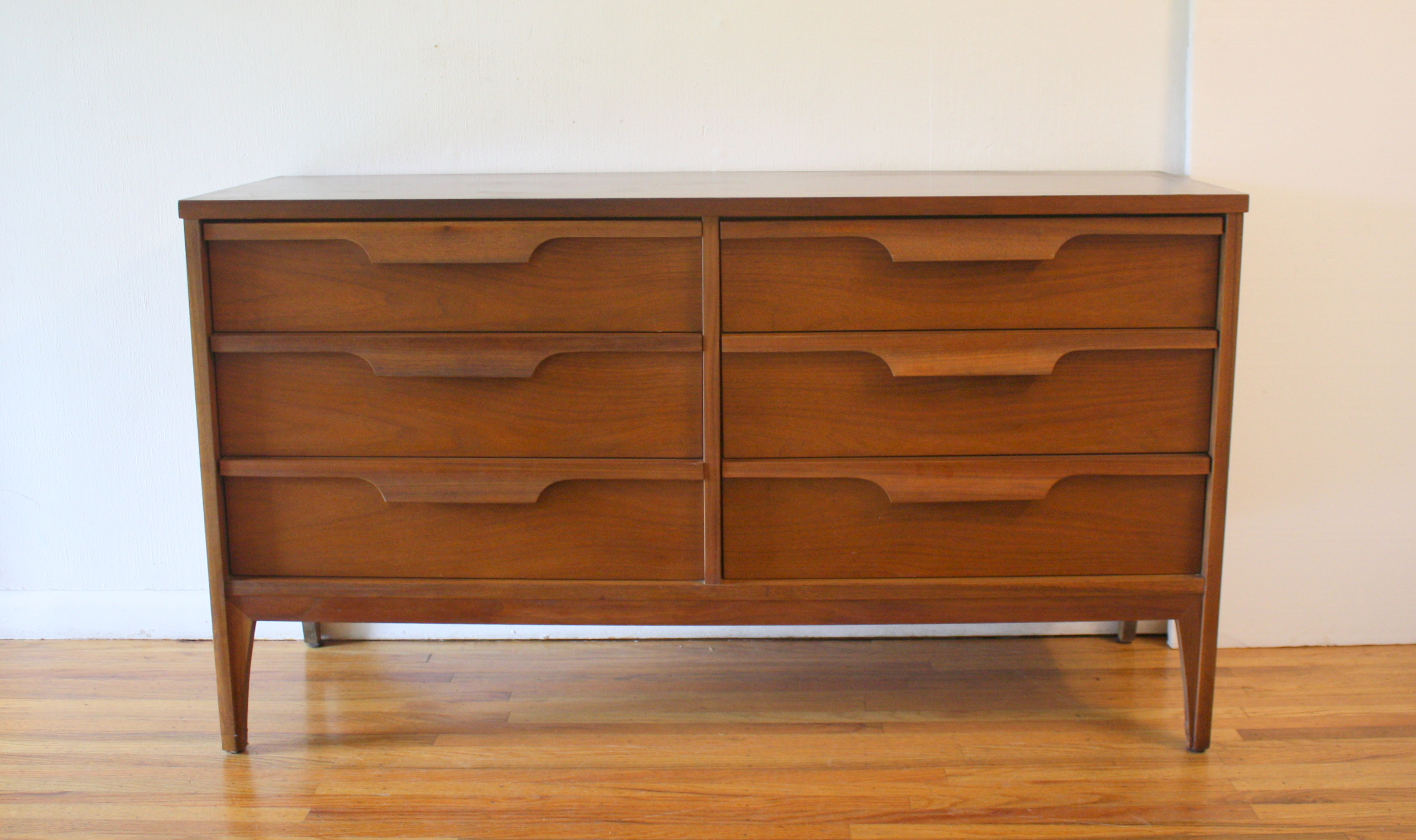 Mid Century Modern Low Dresser Credenza And Desk By