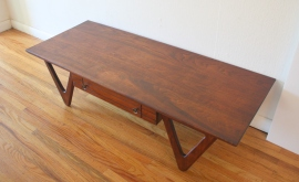 mcm coffee table with angled sculpted base 3