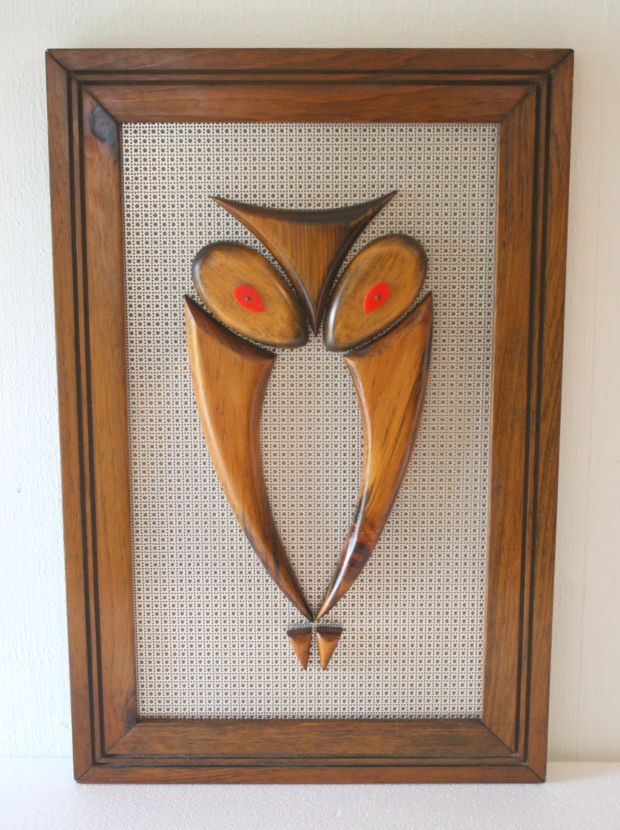 mcm owl wood art on metal 1.JPG