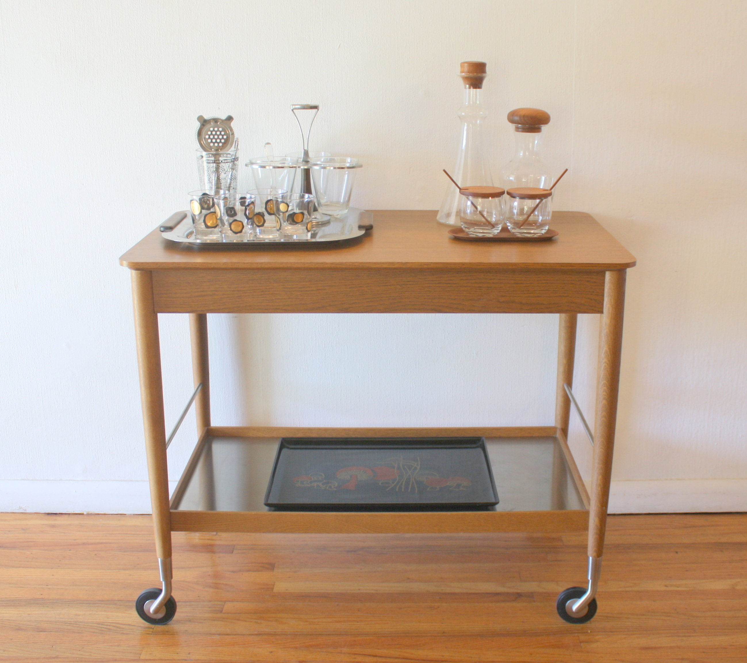 mcm stainless shelf bar serving cart 1
