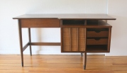 Hooker floating desk with bookshelf 3