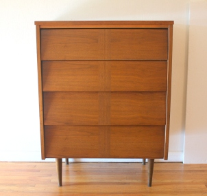 mcm louvered parquet tall dresser 1