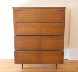 mcm louvered parquet tall dresser 3