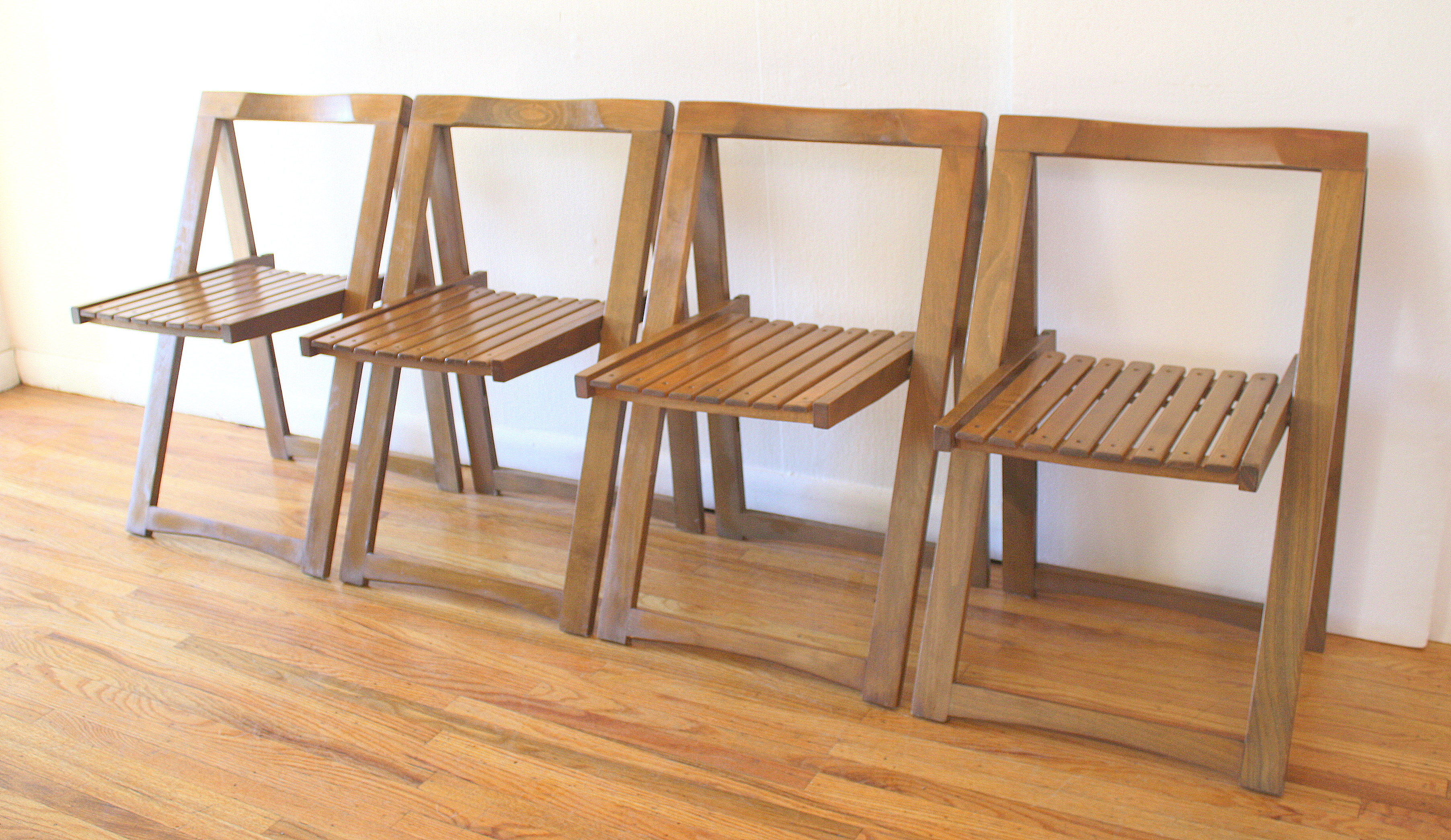 Mid century modern gateleg dining table chairs picked vintage - Gateleg table with folding chairs ...