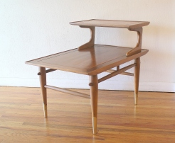 Lane Copenhagen 2 tiered side end table 1
