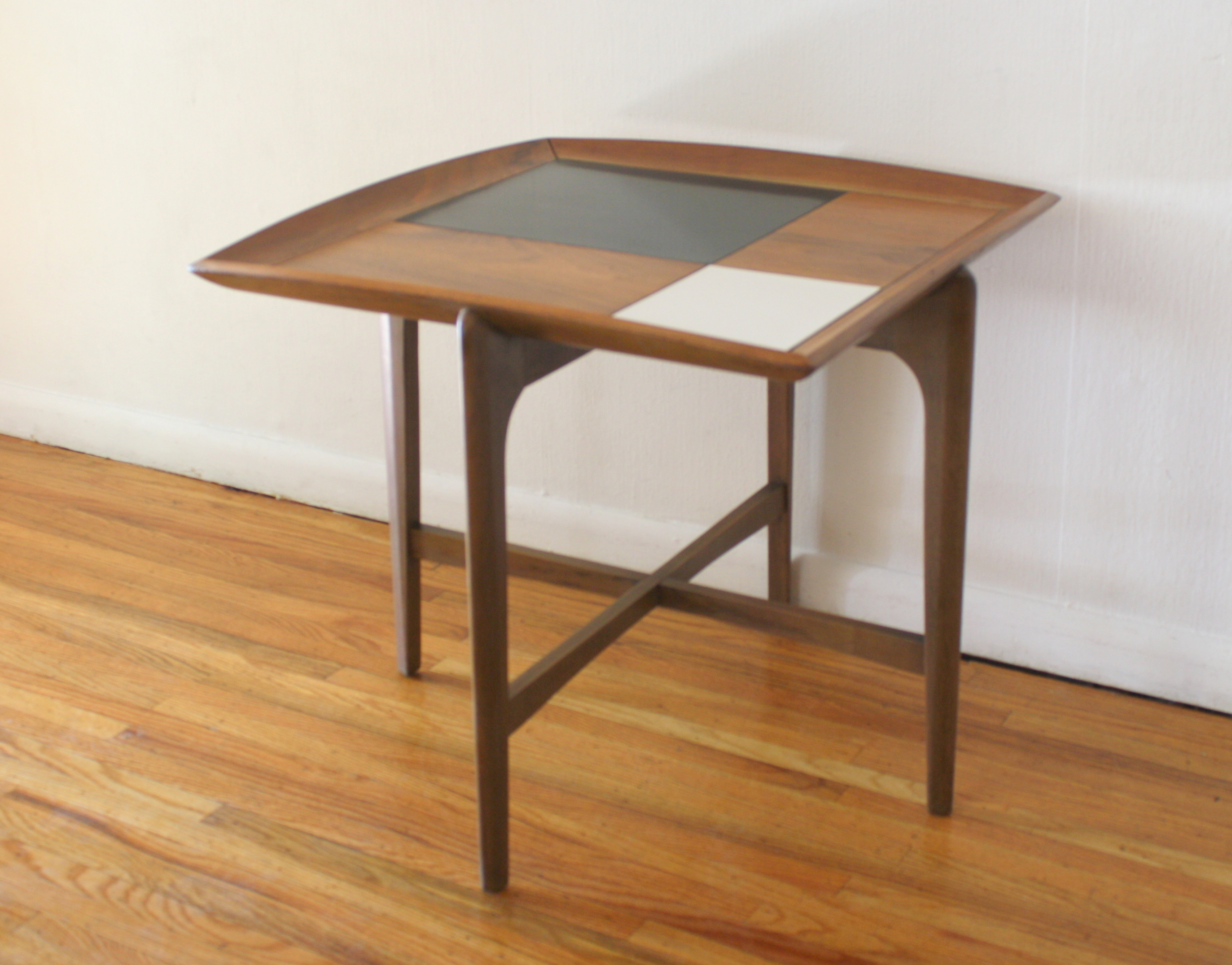 mcm square floating side end table 2