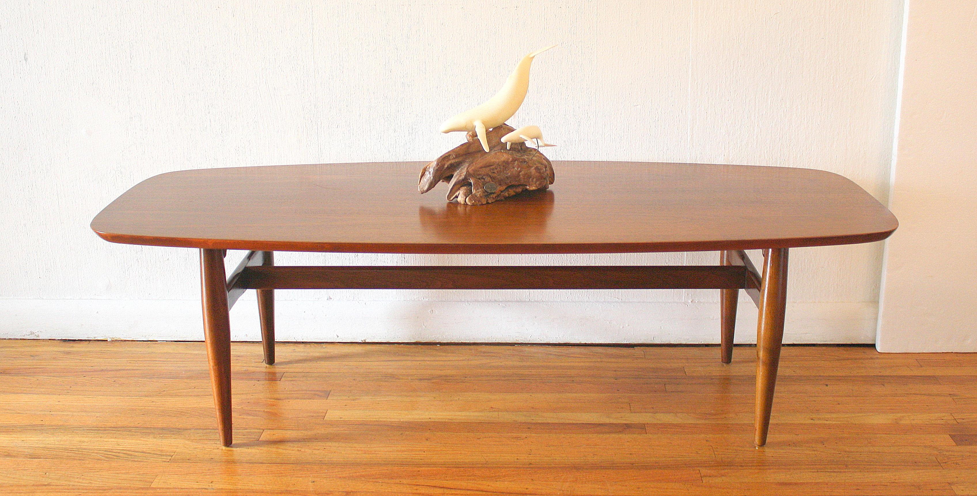 Mid Century Modern Surfboard Coffee Table Picked Vintage