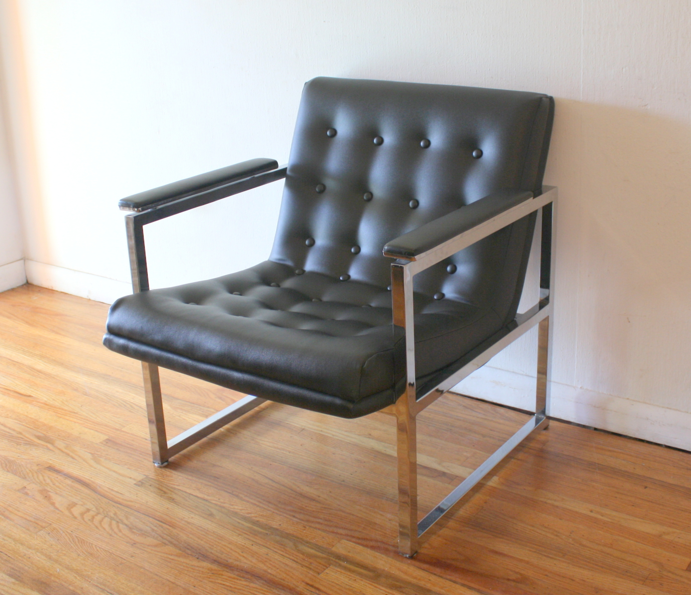 Milo Baughman style arm chair 1