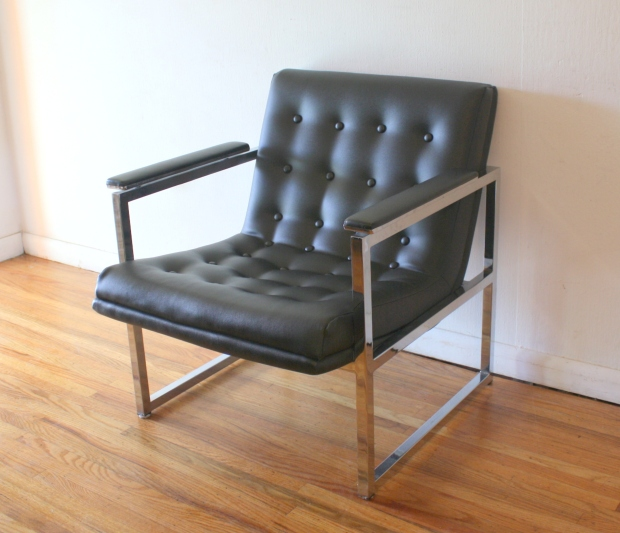 Milo Baughman style arm chair 1.JPG