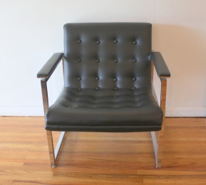 Milo Baughman style arm chair 2