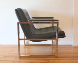 Milo Baughman style arm chair 3