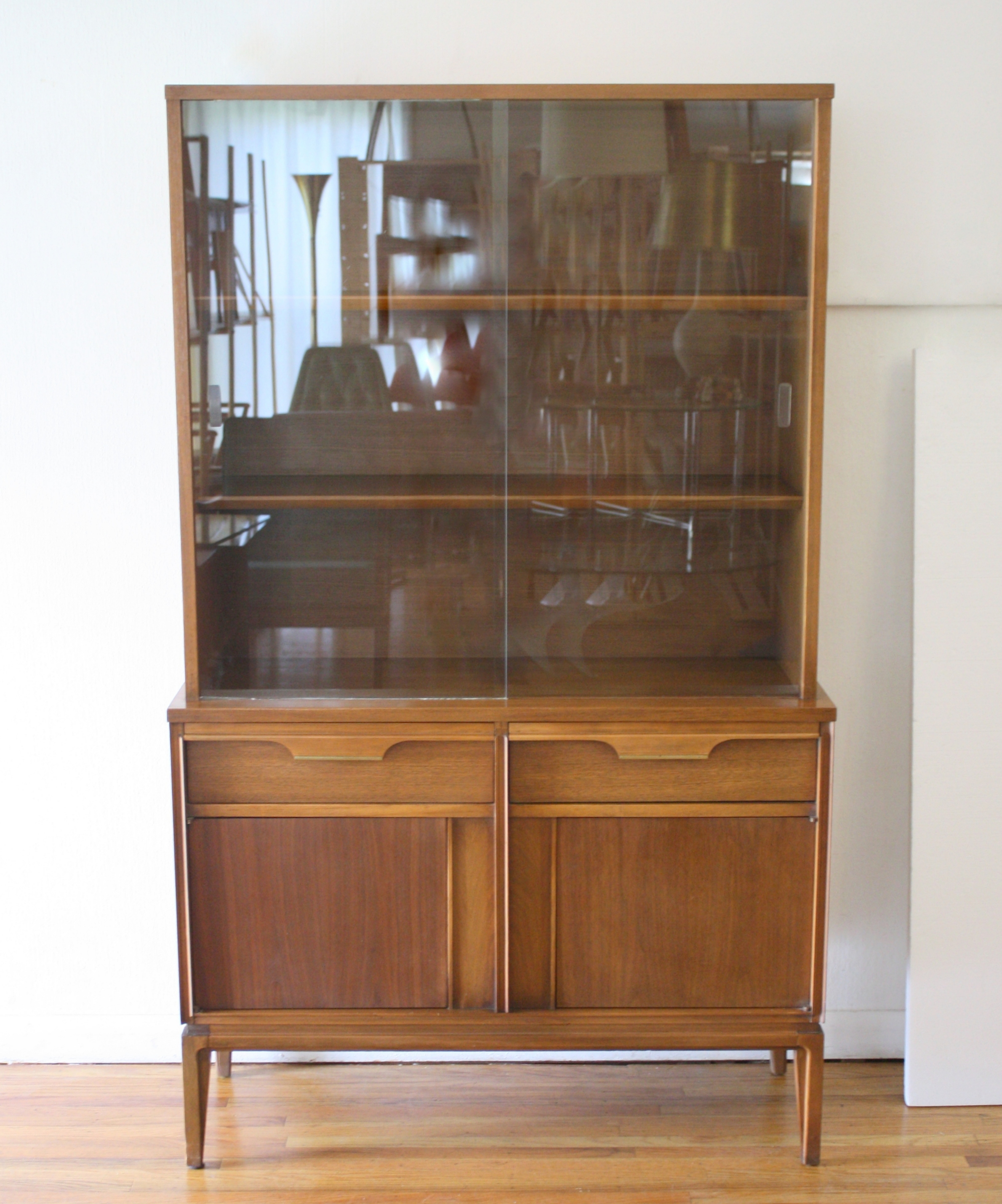 hutch cabinet makeover vintagemeetsglam before china dsc with