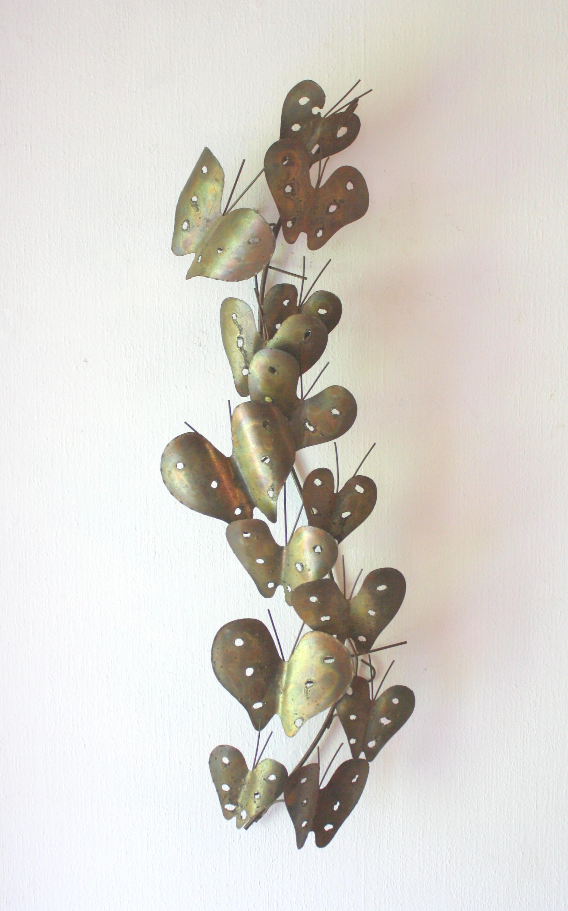 Mid Century Modern Brutalist Butterfly Wall Sculpture