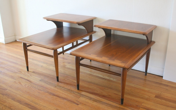 Lane Acclaim pair of 2 tiered side tables 1