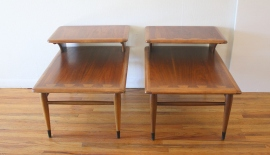 Lane Acclaim pair of 2 tiered side tables 2
