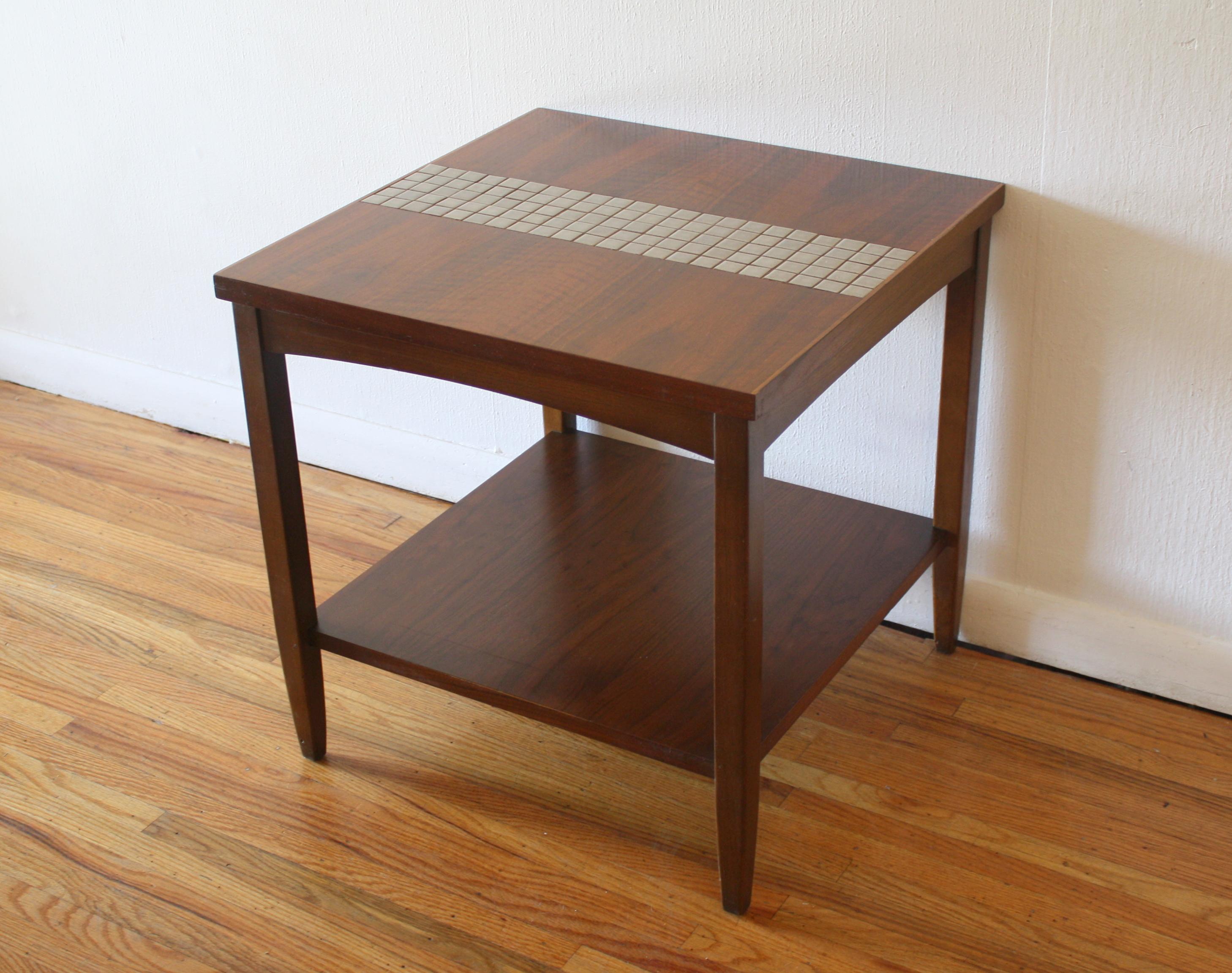 Lane tile side end table 4