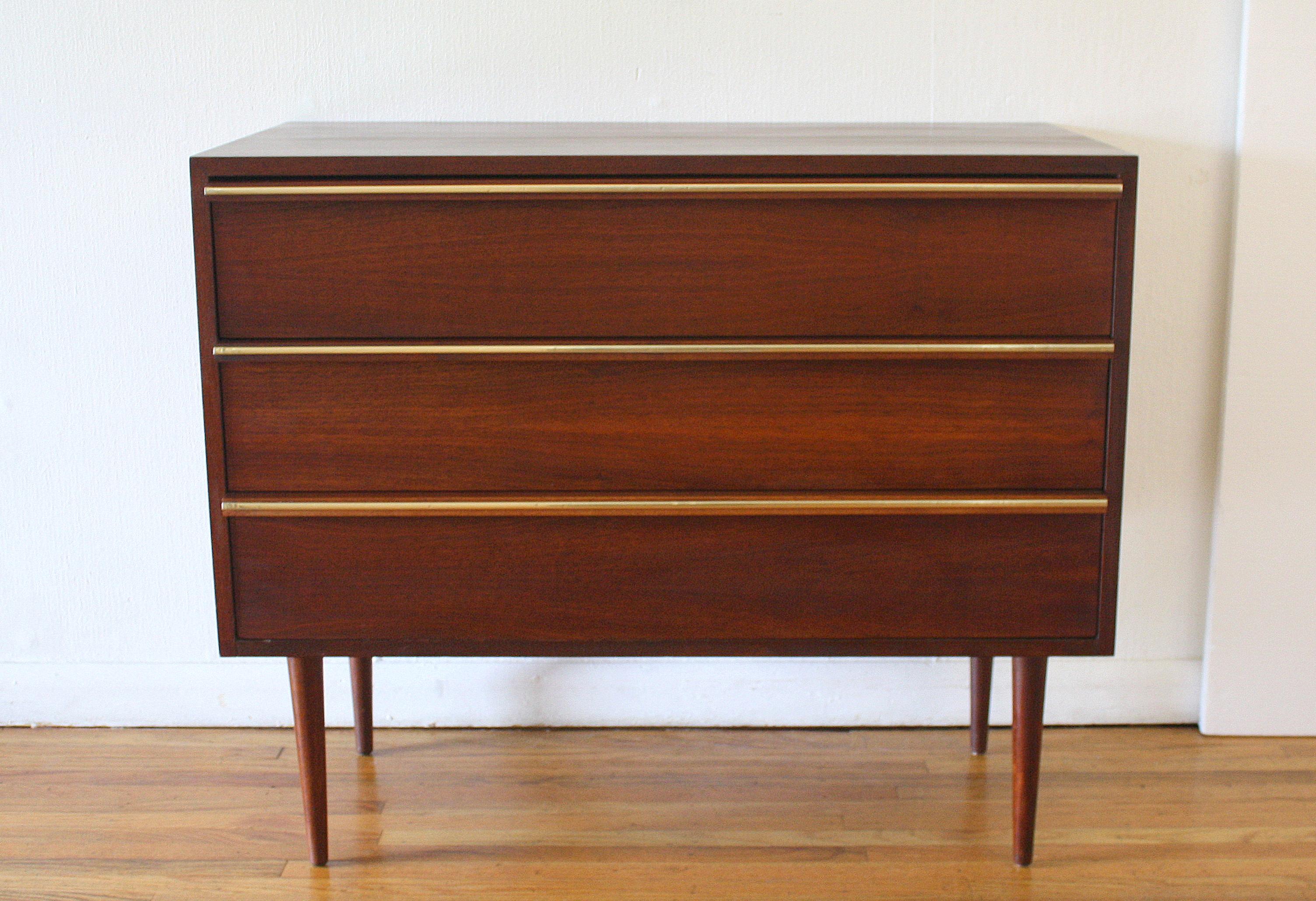 mcm bachelor chest dresser with brass handles 1.JPG