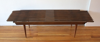 mcm extending slatted table bench 1
