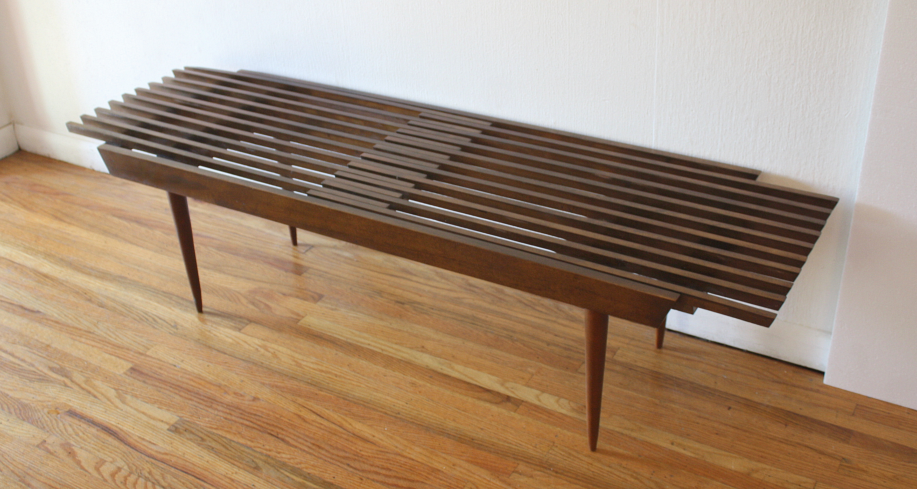 mcm extending slatted table bench 2