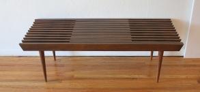 mcm extending slatted table bench 4