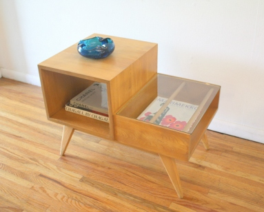 mcm 2 tiered table with magazine shelf 2
