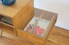 mcm 2 tiered table with magazine shelf 3