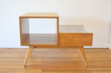 mcm 2 tiered table with magazine shelf 4