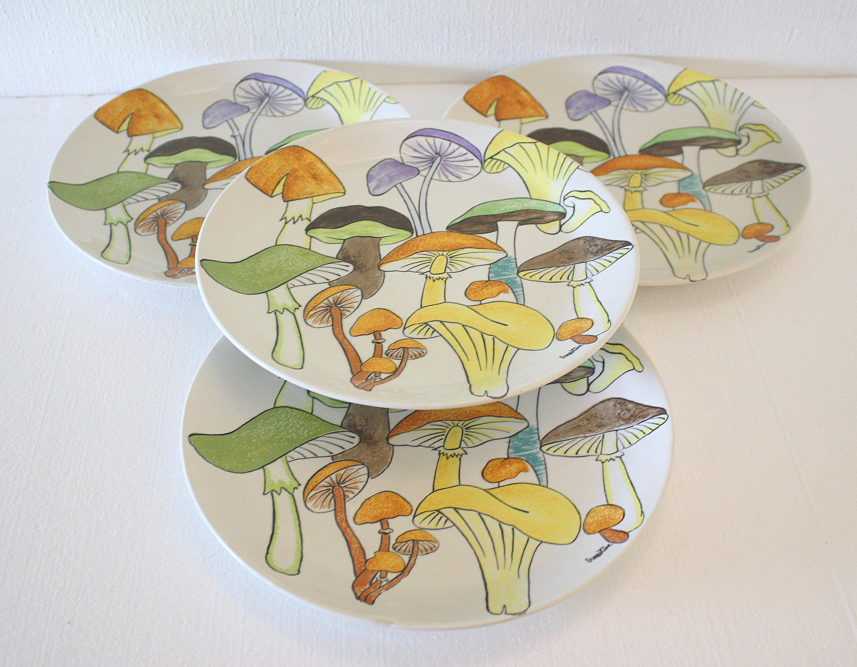 Ernestine mushroom dinner plates 1