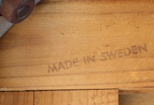 Swedish rosewood desk 1