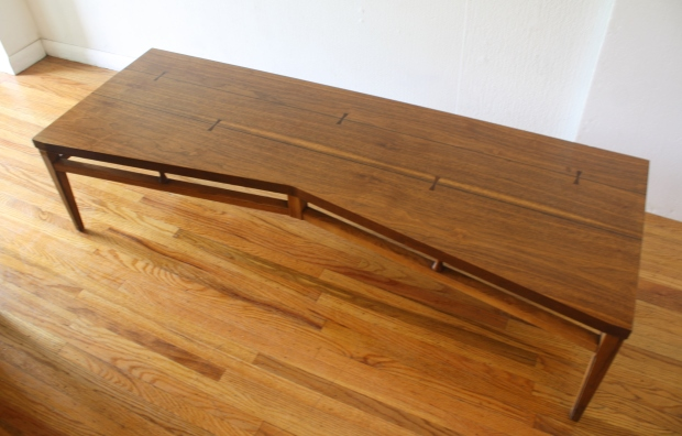 Lane Tuxedo bowtie dovetail coffee table 1