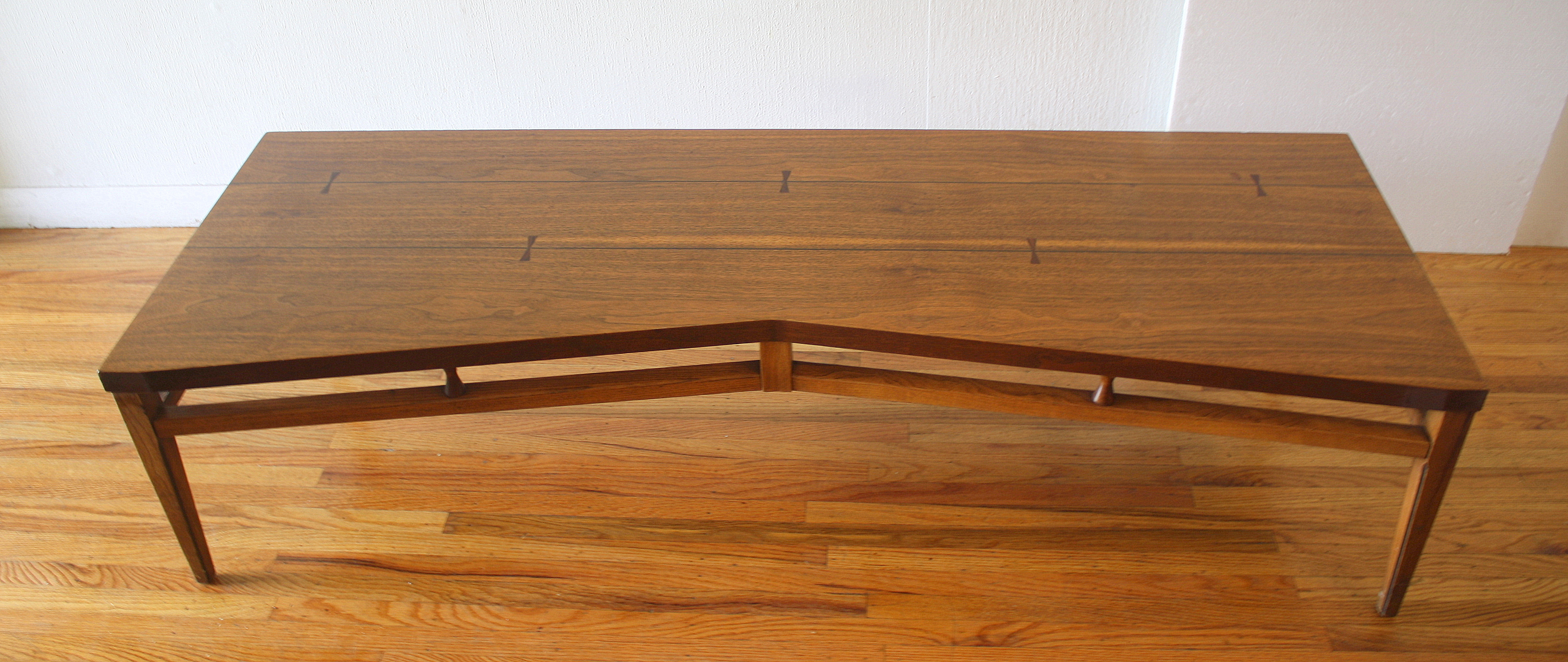 Lane Tuxedo bowtie dovetail coffee table 2
