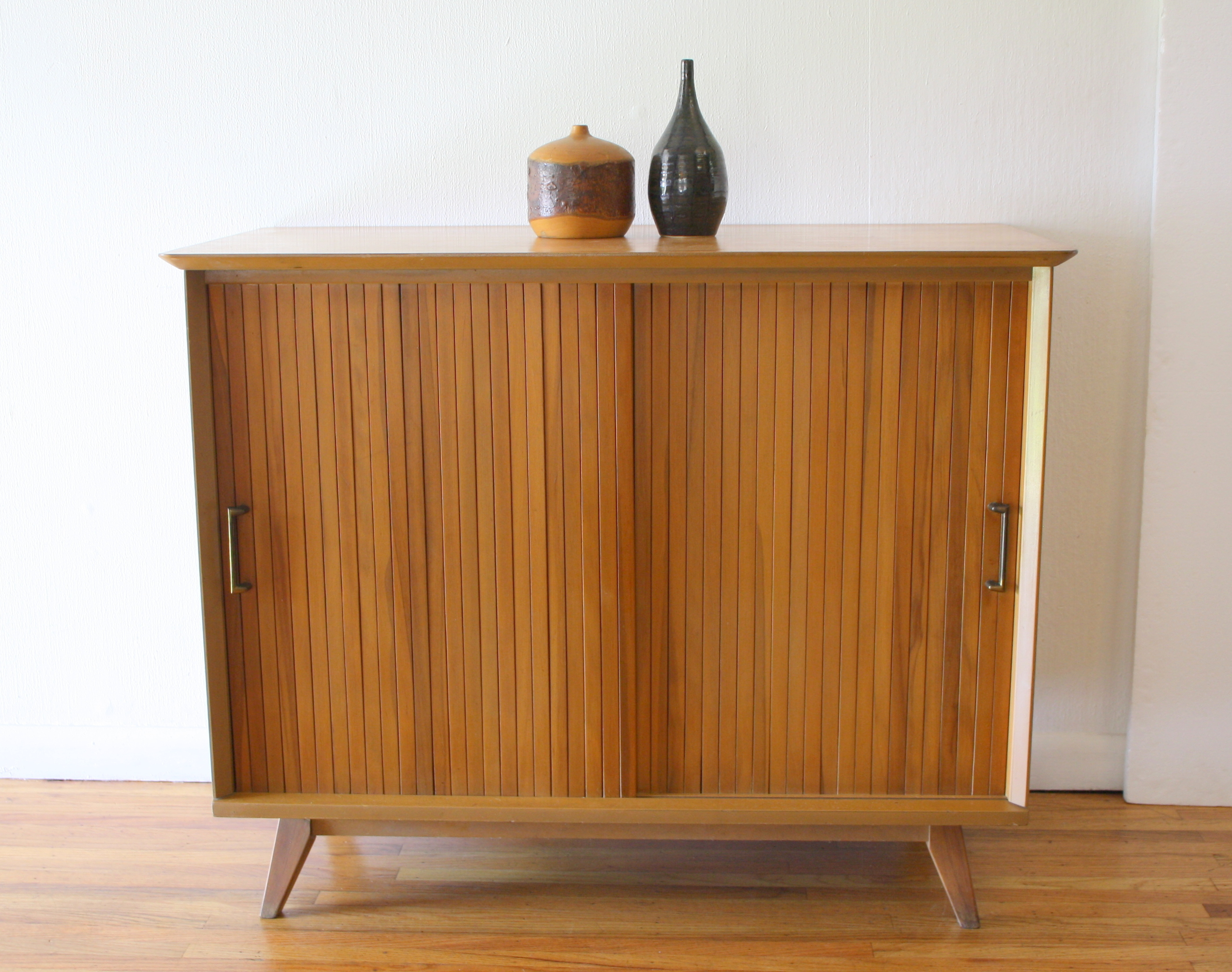 mcm mini credenza with sliding tambour doors1.JPG