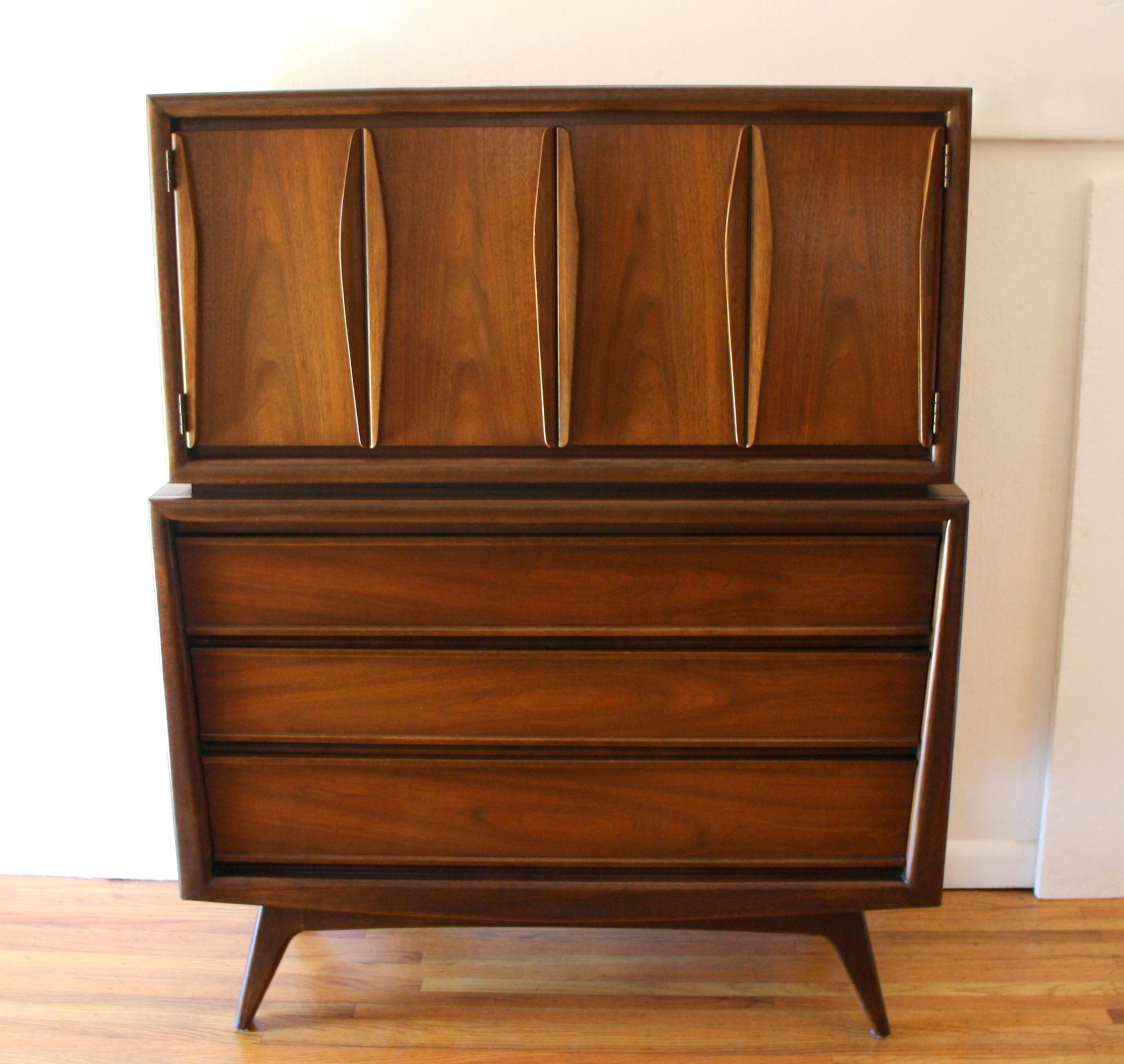 Mcm sculpted tall dresser armoire 1.JPG