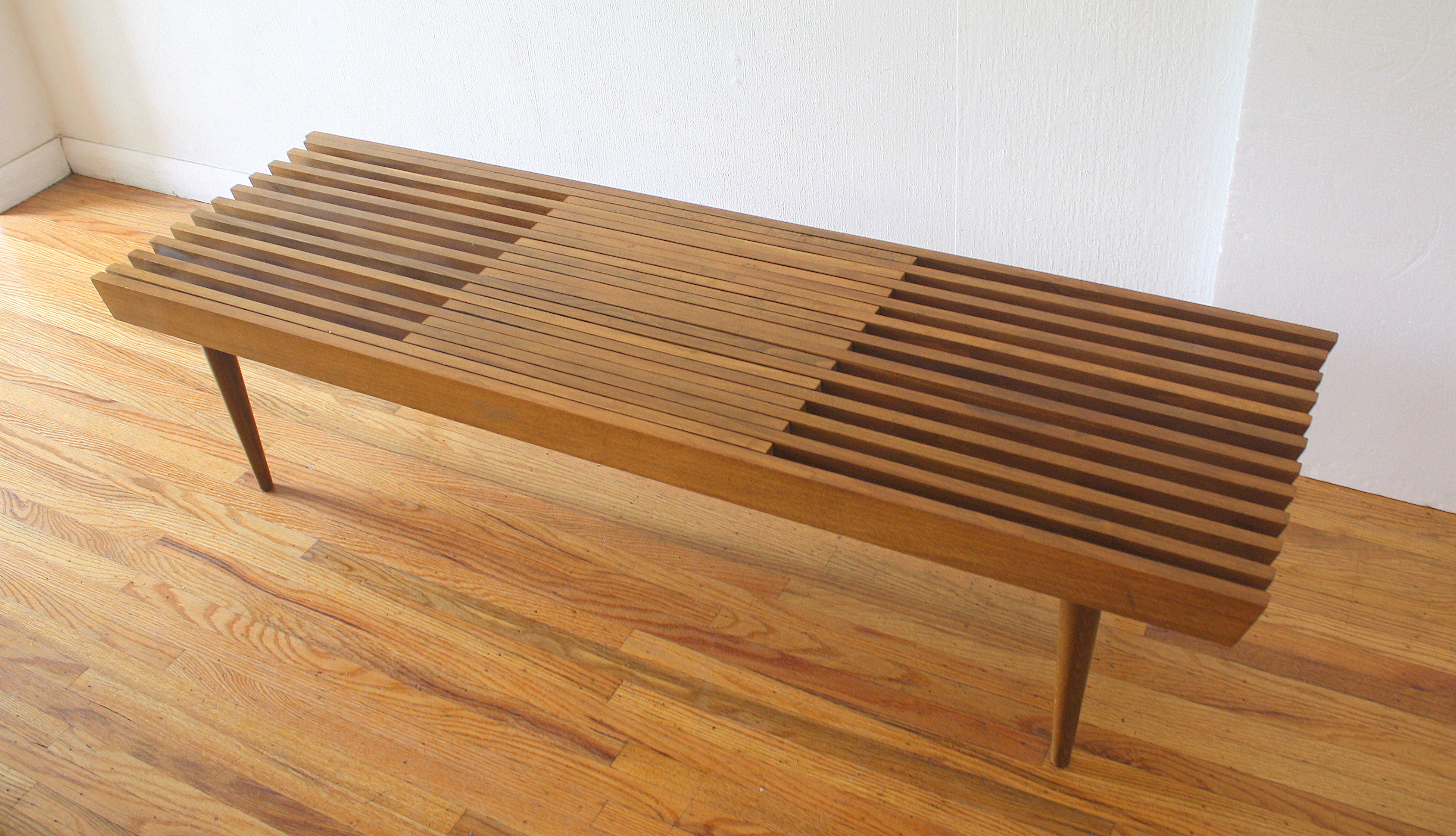 mcm slatted extendong table bench 2.JPG