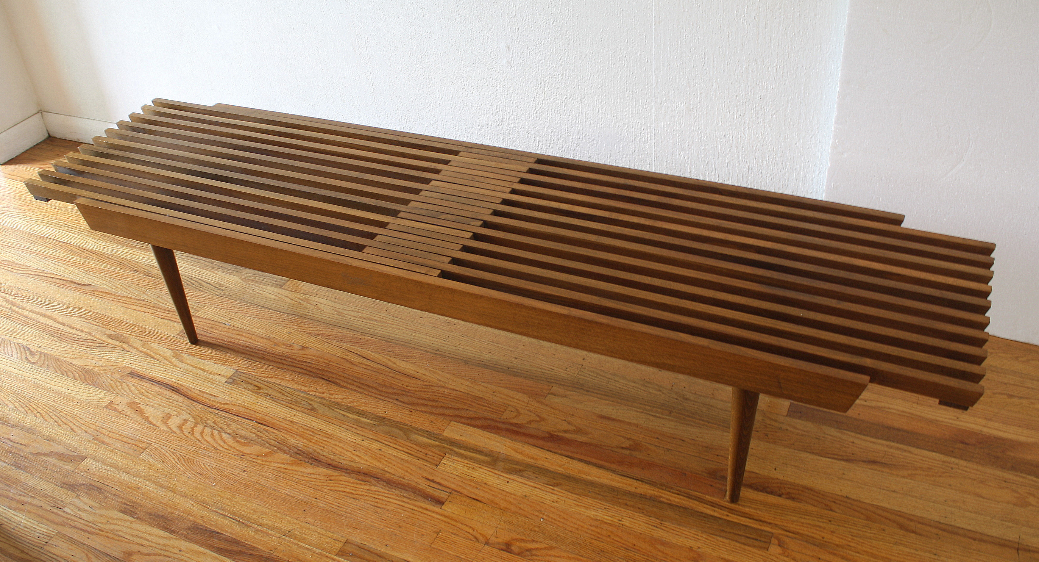 mcm slatted extendong table bench 3.JPG