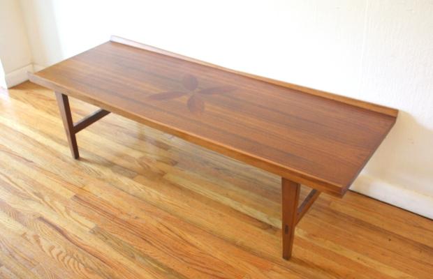 Lane parquet flower coffee table 1