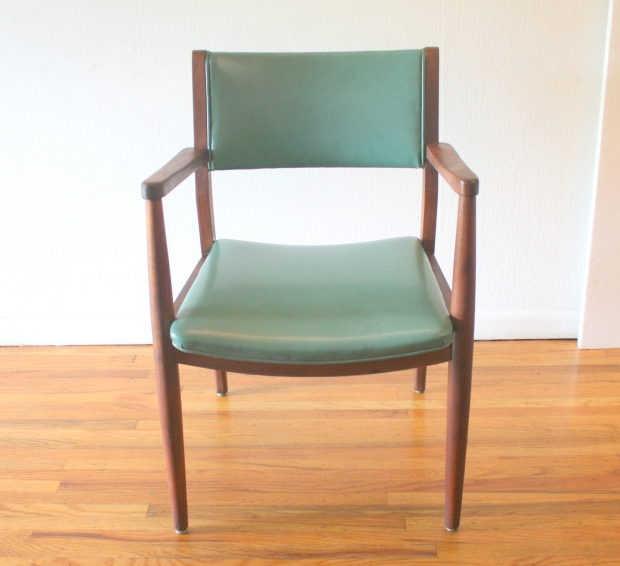 mcm turquoise arm chair 1