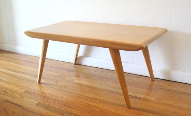 heywood wakefield coffee table wheat finish 1