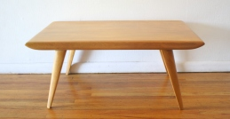 heywood wakefield coffee table wheat finish 2