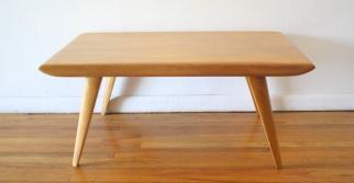 heywood wakefield coffee table wheat finish 2